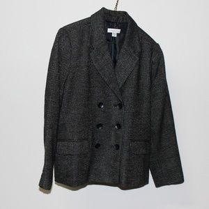 Coldwater Creek Womens Jacket Lined Black Pattern